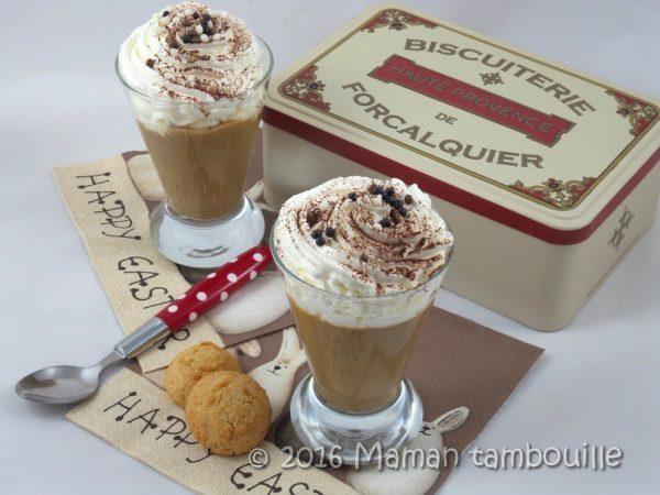 Crème façon liégeois au café