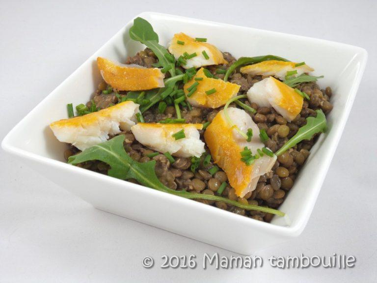 Read more about the article Salade de lentilles au haddock