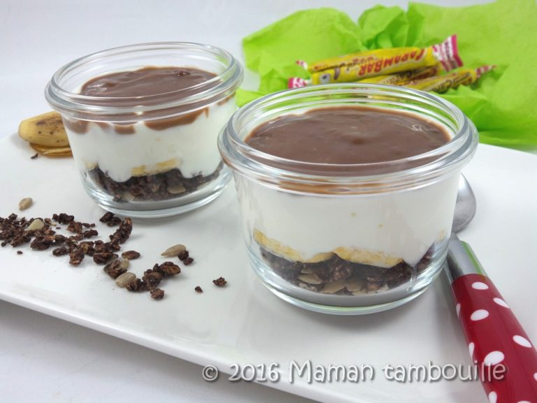 Read more about the article Verrine banane, fromage blanc, sauce carambar