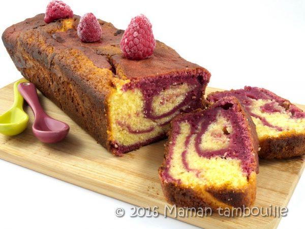 Gâteau au citron et à la framboise