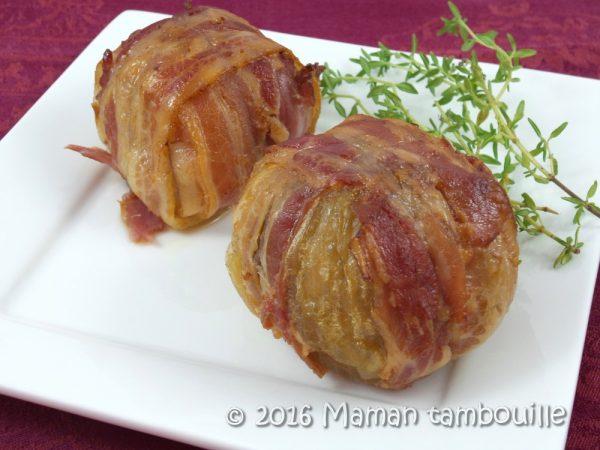 Oignons farcis au bœuf et lard