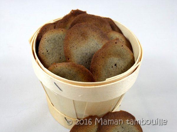 Biscuits au sésame noir {sans gluten}