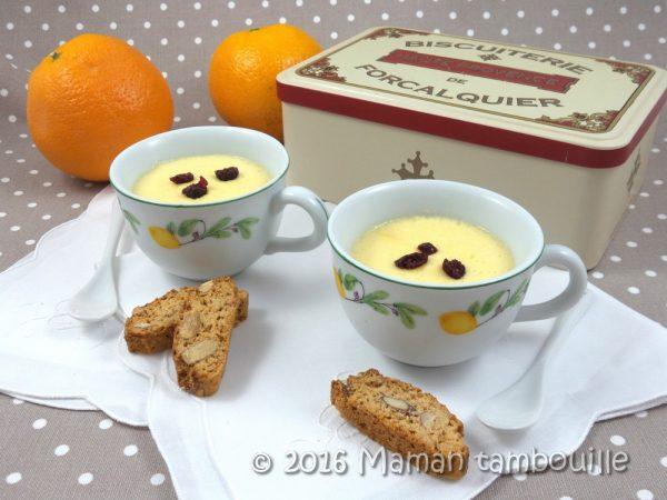 Crèmes à l'orange au lait d'amande