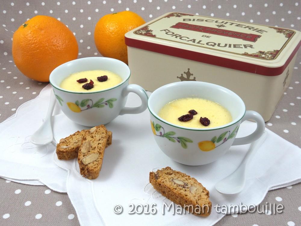 Read more about the article Crèmes à l'orange au lait d'amande