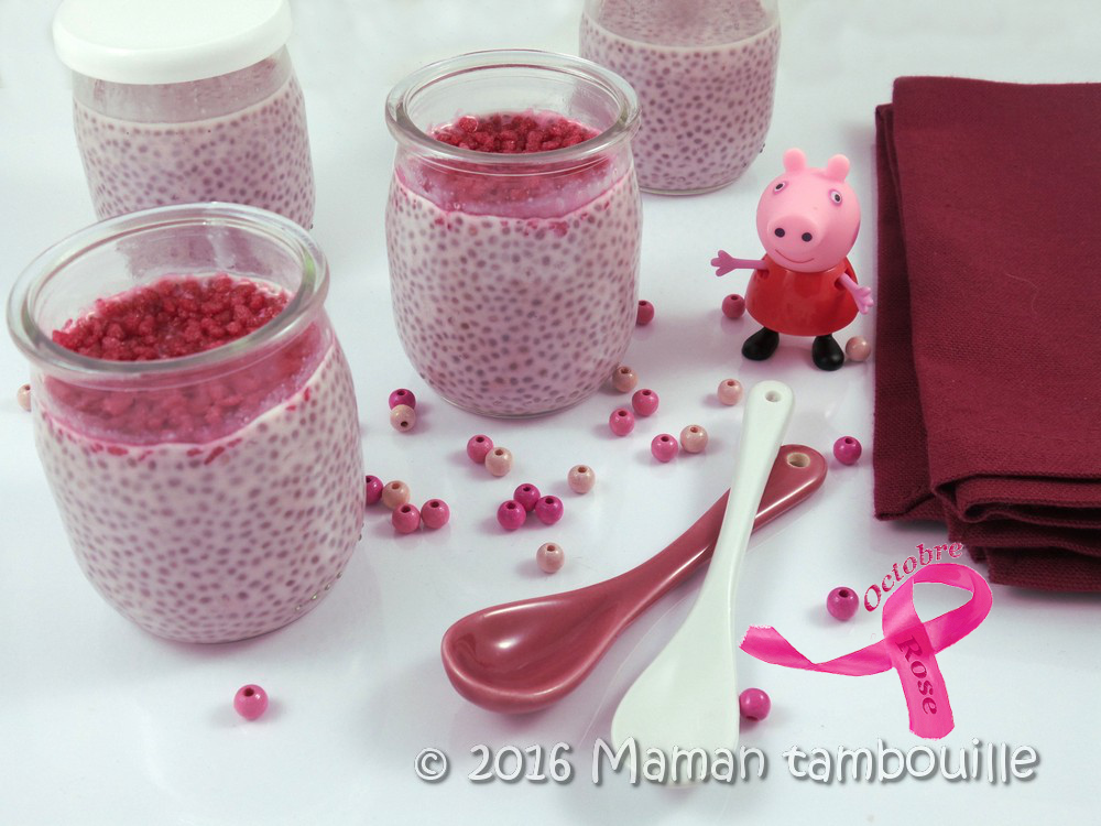 Chia pudding d'octobre rose