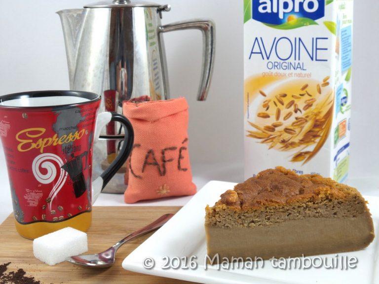 Gâteau magique au café {sans lactose}