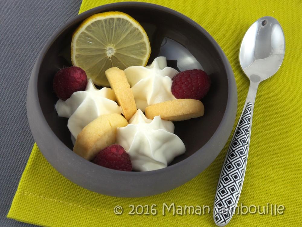 Chantilly au citron {au siphon}