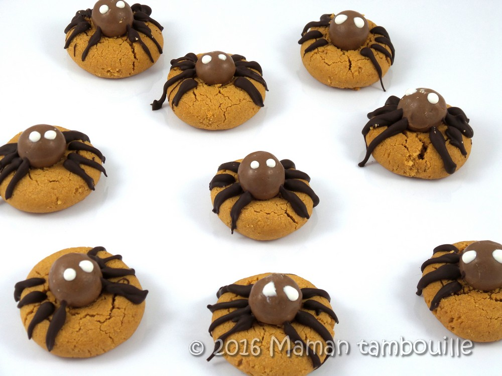 Cookies araignées au beurre de cacahuète {sans gluten}