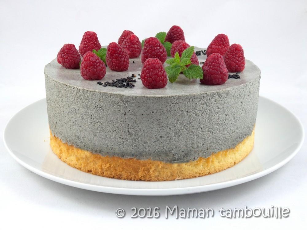 Read more about the article Entremet au sésame noir coeur de fruits rouges