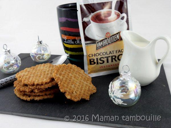 Gaufrettes au sarrasin et crème de châtaigne