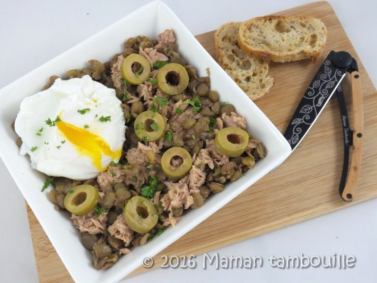 Read more about the article Salade de lentilles au thon et olives