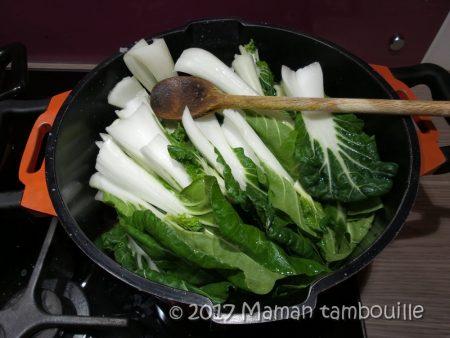 epaule fumée pak choi sauce gorgonzola05