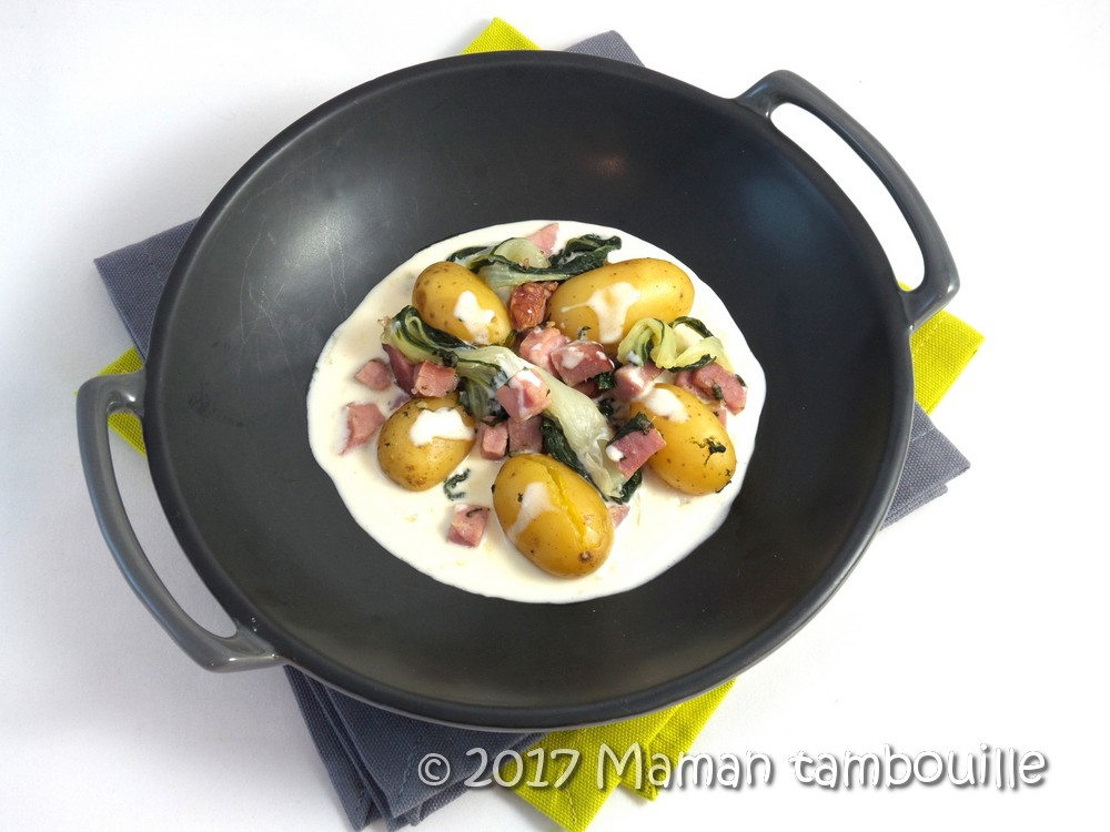 Read more about the article Porc fumé au pak choi sauce gorgonzola