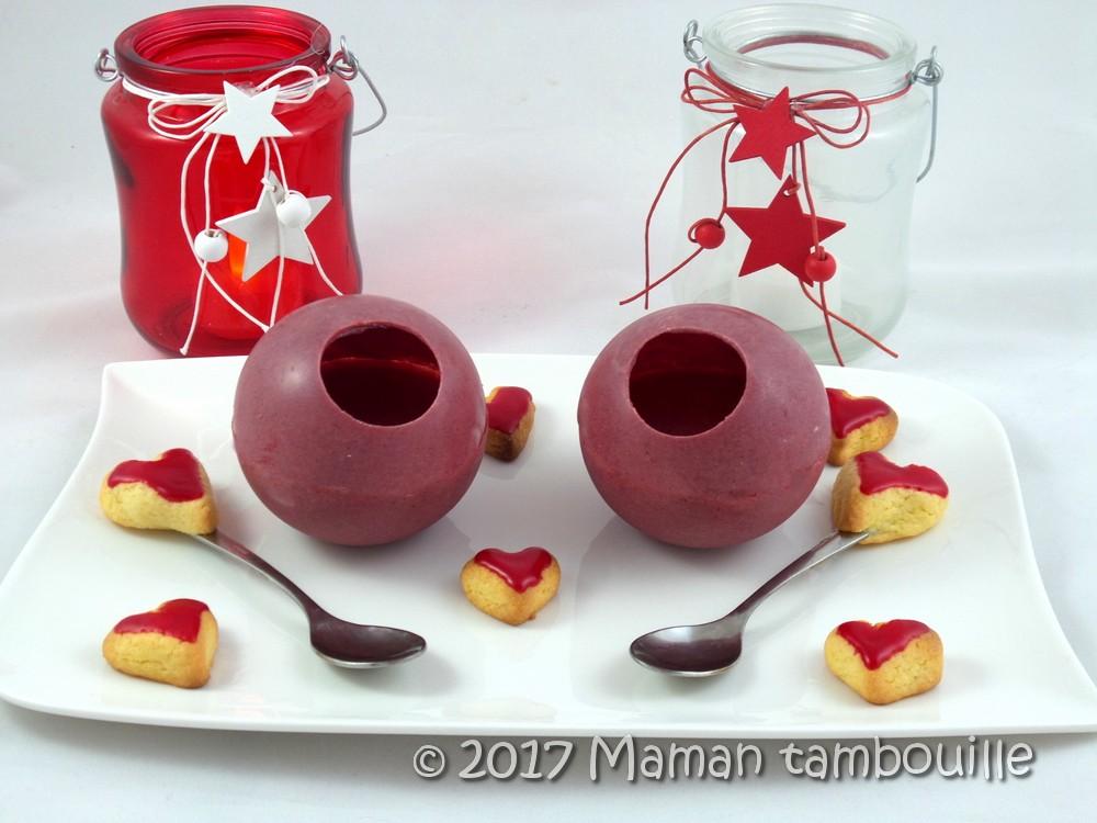 Sphères de mousse de fruits rouges {les défis gourmands de Cuisine Addict}