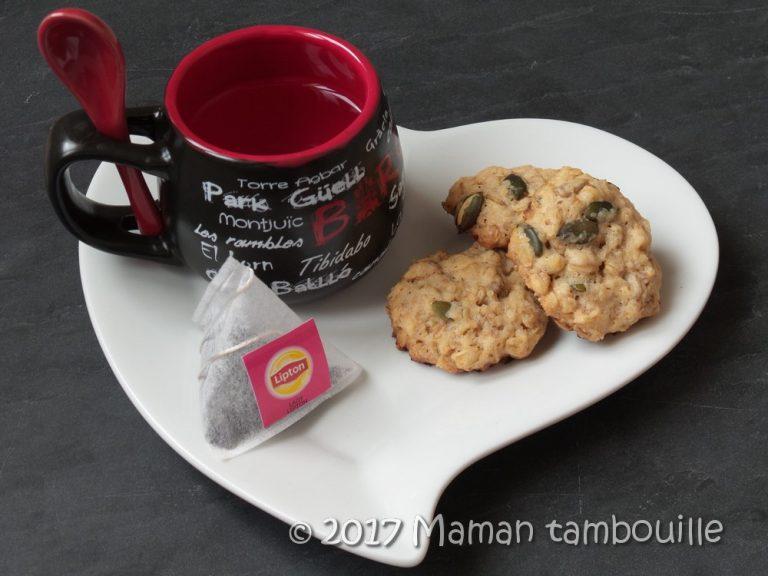 Read more about the article Cookies aux flocons d'avoine et graines de courges