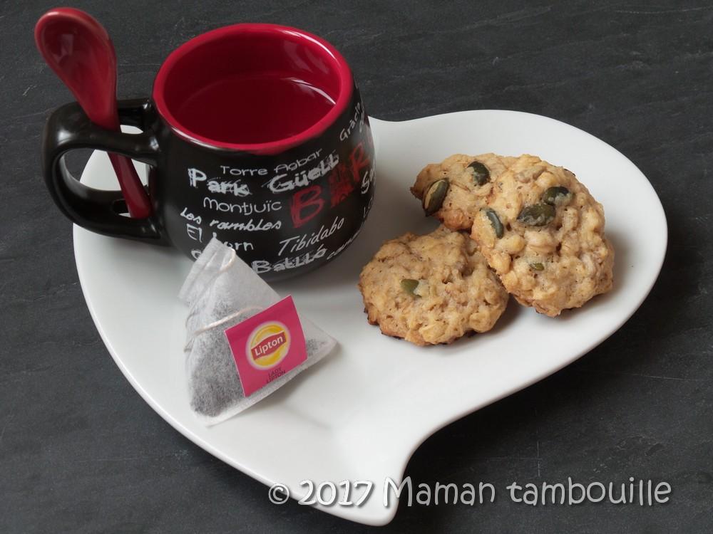 Cookies aux flocons d'avoine et graines de courges