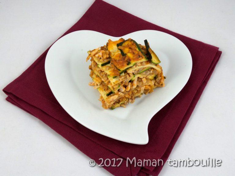 Lasagnes de courgette au kasha