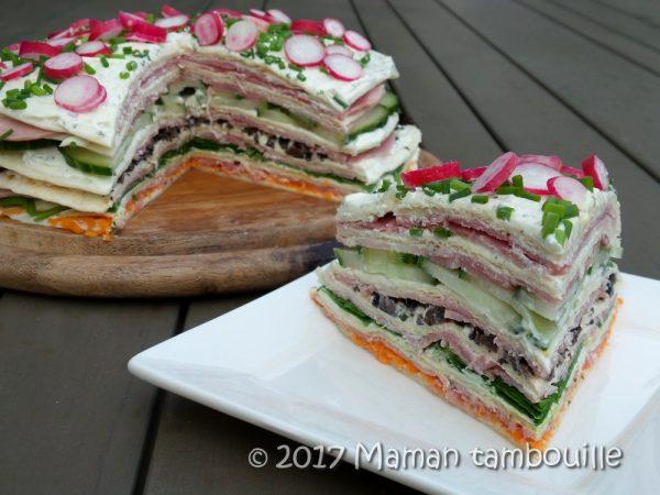 Wrap cake