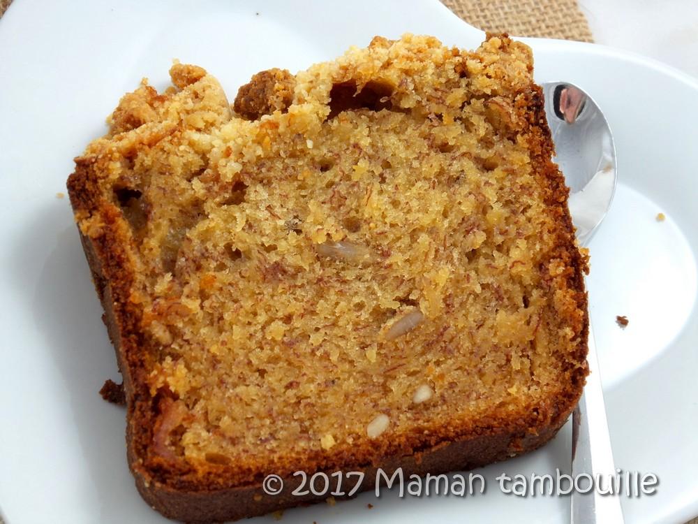 Cake crumble à la banane