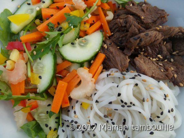 Salade thaï {detox après le parc Axtérix}