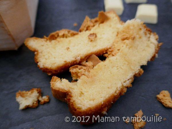 Brownie blanc {sans beurre}