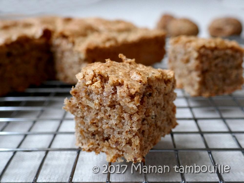 Gâteau aux noix et caroube