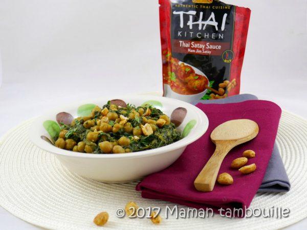 Pois chiches et épinards à la thaï