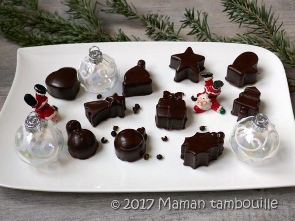 Chocolats noirs ganache aux baies de timut {partenariat}