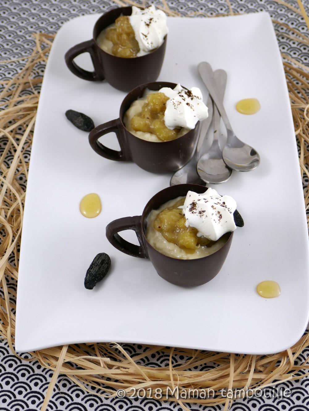 Crème miel tonka et sa compotée de banane