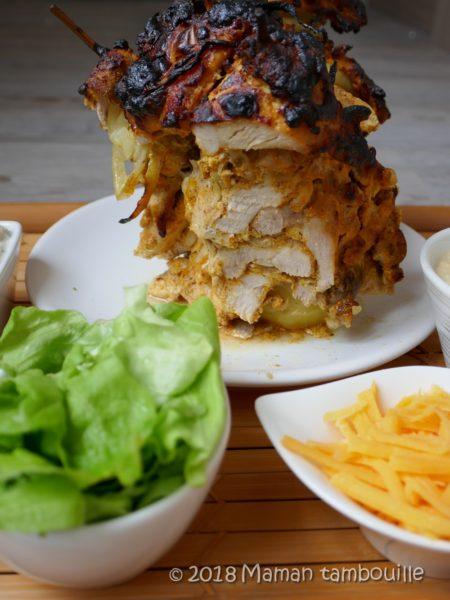 Kebab sur broche comme au resto