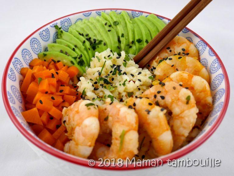 Read more about the article Poke bowl aux crevettes sautées