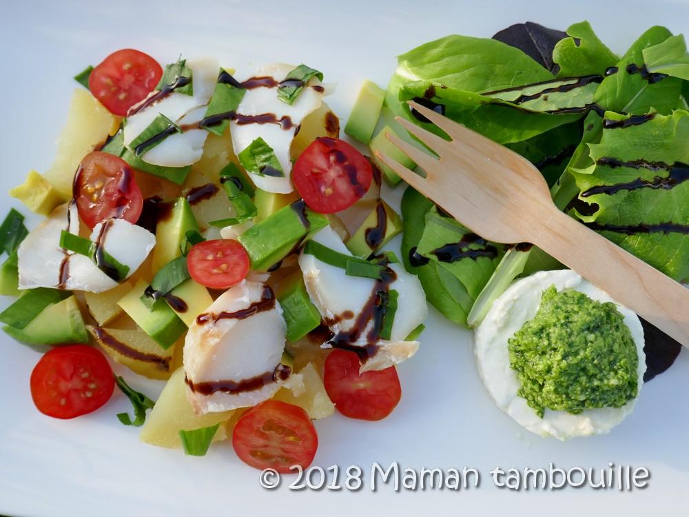 Salade au haddock et pesto à l'ail des ours