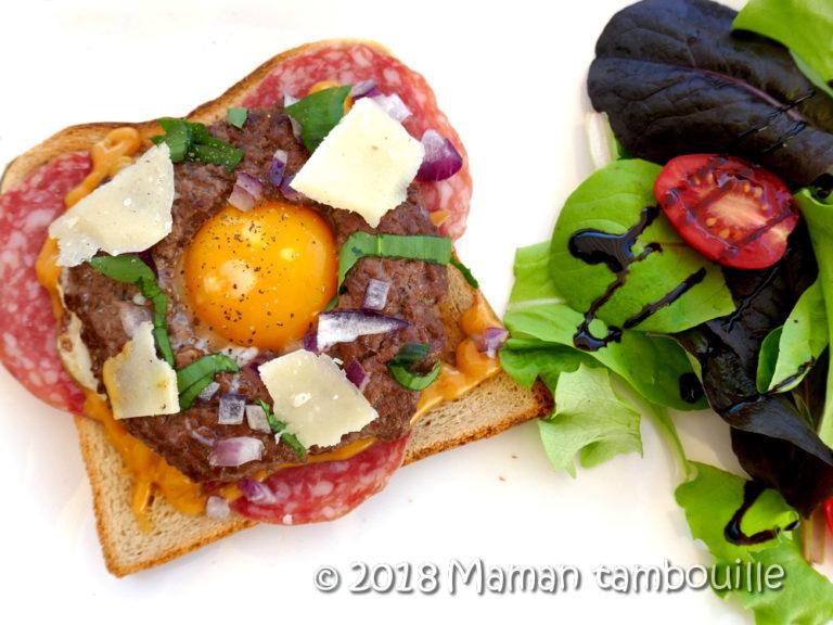 Read more about the article Steak façon donut et son oeuf au plat