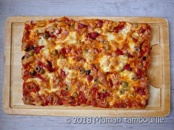Pizza à pâte liquide