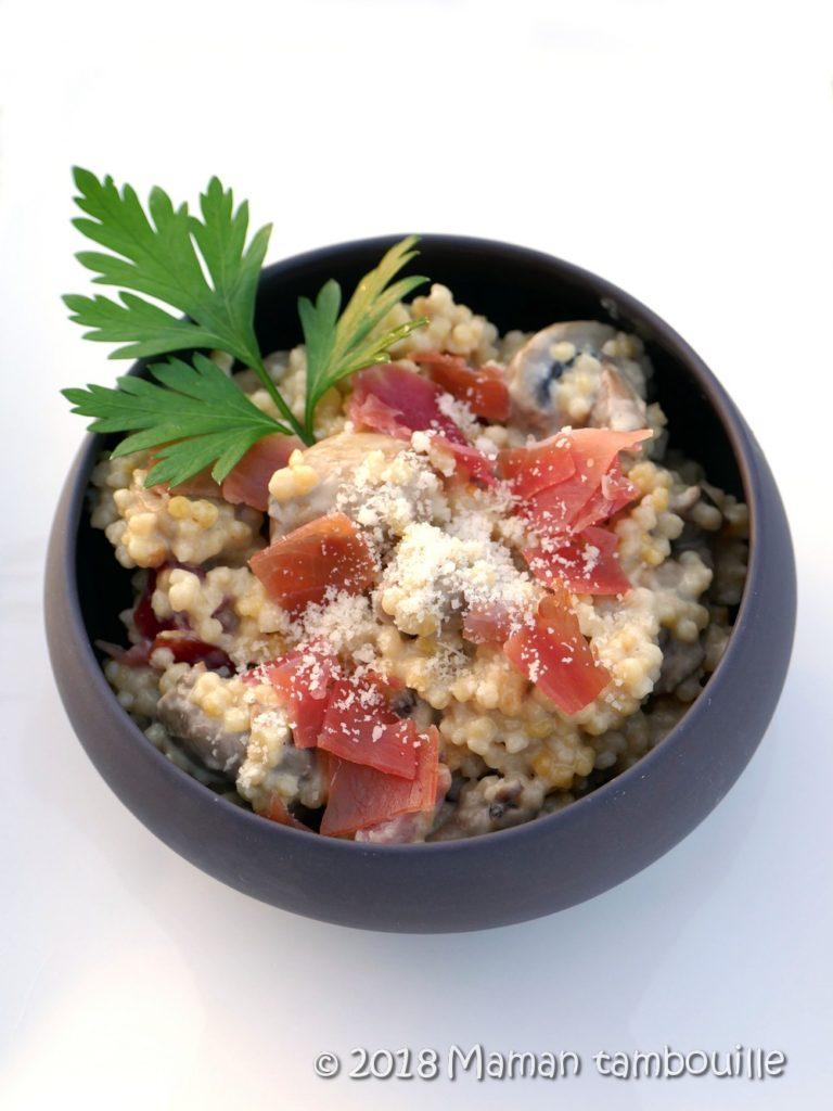 Read more about the article Perles de blé aux champignons {Cookeo}