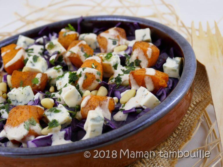 Salade de chou rouge aux patates douces