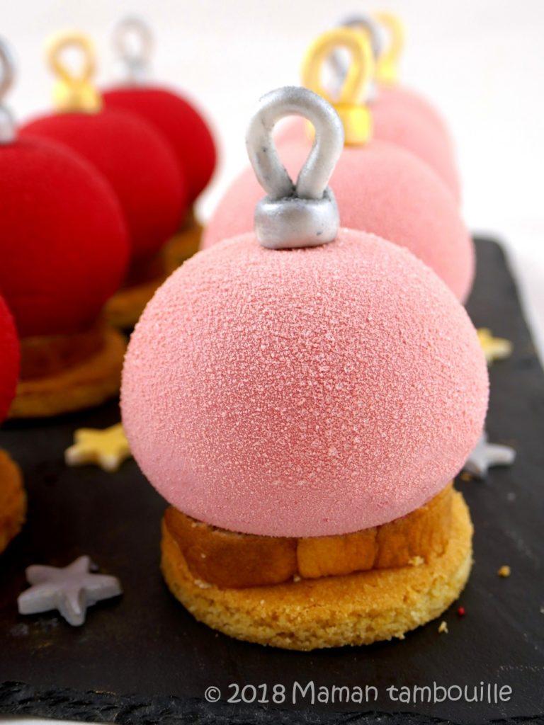 Read more about the article Boules de Noël framboise litchi