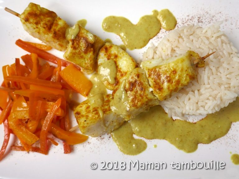 Read more about the article Brochettes de poisson curry coco