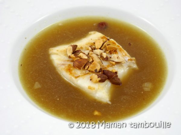 Cabillaud en bouillon de champignon