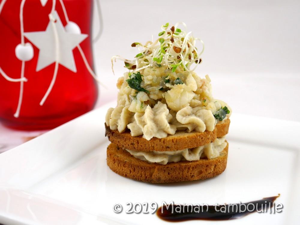 Crème d'artichaut aux langoustines et crevettes