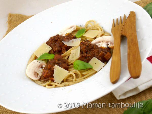 Spaghetti à la fausse bolognaise