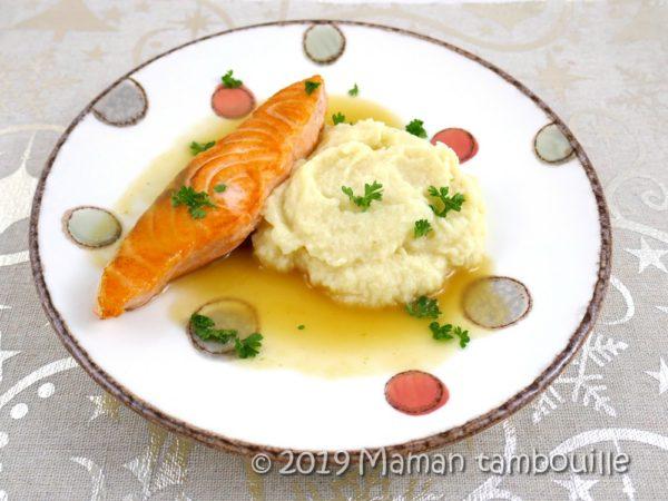 Saumon grillé sauce à la pomme {partenariat}