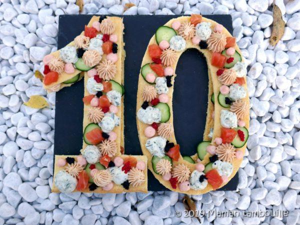 Number cake de la mer {défi gourmand 10 ans de Cuisine Addict}
