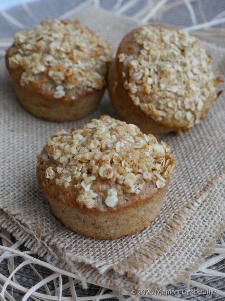Muffins légers compote et flocons d'avoine
