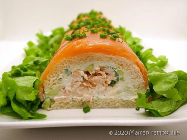 Bûche aux 2 saumons