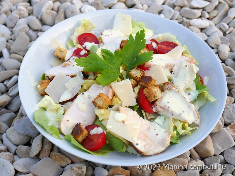 Salade caesar et sa sauce extra