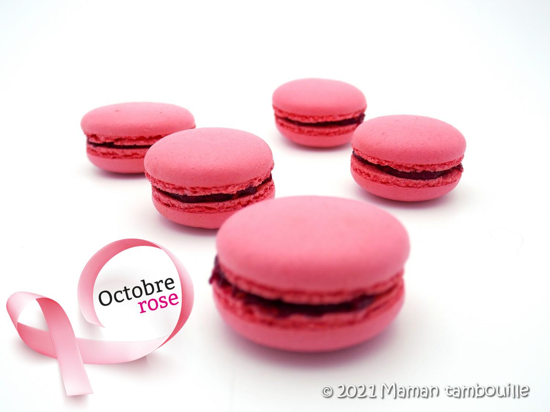 Read more about the article Macarons à la framboise {Octobre rose 2021}